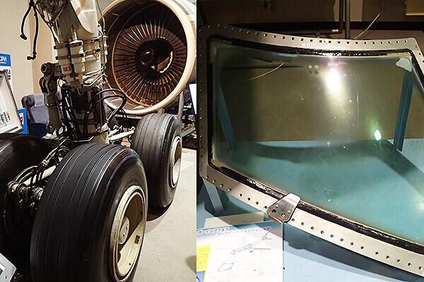ボーイング747のタイヤ窓